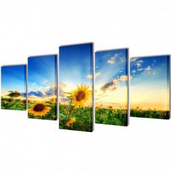 Декоративни панели за стена Слънчоглед, 200 x 100 см - Картини, Плакати, Пъзели