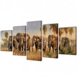 Декоративни панели за стена Слонове, 200 x 100 см - Картини, Плакати, Пъзели