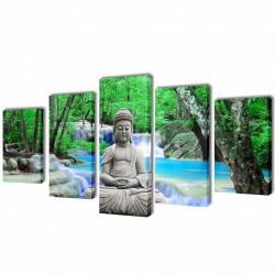 Декоративни панели за стена Буда, 100 x 50 см - Картини, Плакати, Пъзели