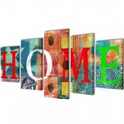 Декоративни панели за стена Цветен дом, 100 x 50 см - Картини, Плакати, Пъзели