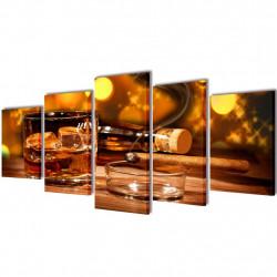 Декоративни панели за стена Уиски и пура, 100 x 50 см - Картини, Плакати, Пъзели