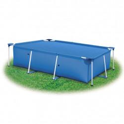 Правоъгълно покривало за басейн от PE 300 х 200 см синьо - Басейни и Спа