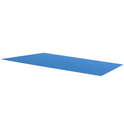 Правоъгълно покривало за басейн от PE 450 х 220 см синьо - Басейни и Спа