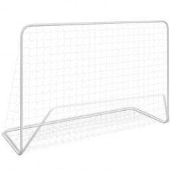 Sonata Футболна врата с мрежа, 182x61x122 см, стомана, бяла - Спорт и Свободно време