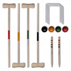 Комплект от 4 дървени крокет стика - Детски играчки