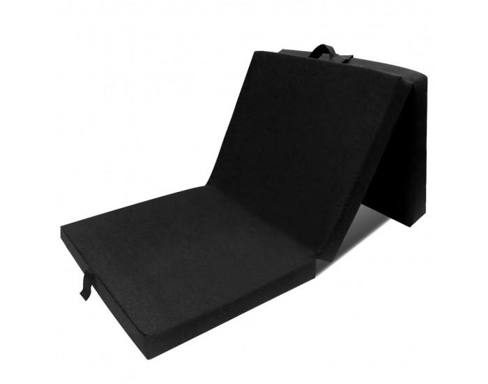Sonata Матрак от три части, дунапрен, 190 x 70 x 9 см, черен -