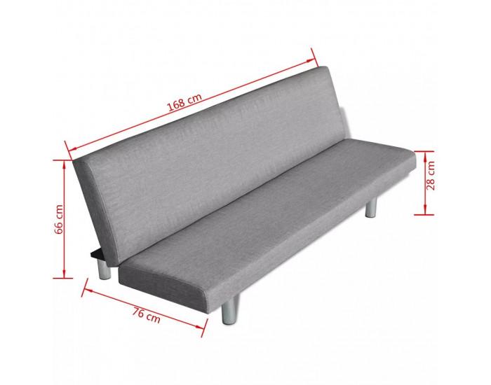 Sonata Разтегателен диван, светлосив, полиестер -