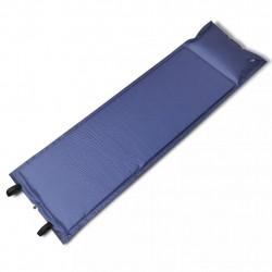 Синя, самонадуваща се постелка 185 x 55 x 3 см (единична) - Спорт и Свободно време