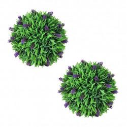 Комплект 2 изкуствени топки с лавандула, 36 см - Изкуствени цветя