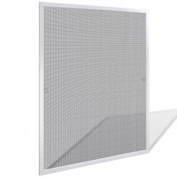 Бял комарник срещу насекоми, 80 x 100 см - Щори