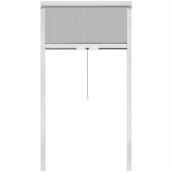 Бял ролетен комарник за прозорци 100 x 170 см - Щори