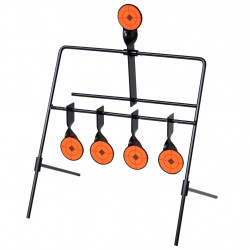 Автоматична мишена за стрелба с 4+1 ротационни цели - Спорт и Свободно време