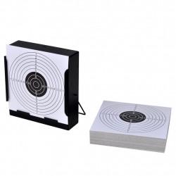 14 см квадратен държач за мишени + 100 хартиени мишени - Спорт и Свободно време