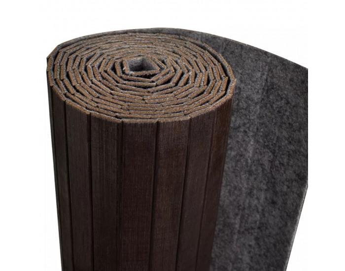 Sonata Параван за стая, тъмно кафяв бамбук, 250x195 см -