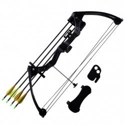 Юношески комплект лък с принадлежности и алуминиеви стрели - Спортна стрелба