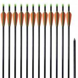 """Стандартни стрели за съставен лък 30"""" 0,8 см, 12 бр, фибростъкло - Спортна стрелба"""