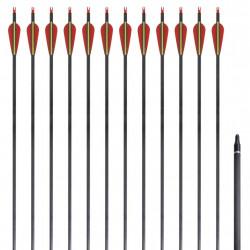 Стандартни стрели за лък 0,76 см карбонови 12 бр. - Спортна стрелба