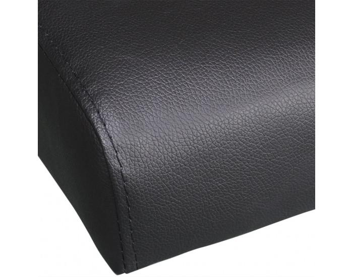 Sonata Разтегателен диван с две възглавници, изкуствена кожа, черен -