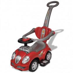 Детска кола за бутане, с дръжка, червена - Детски превозни средства
