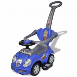Детска кола за бутане, с дръжка, синя - Детски превозни средства