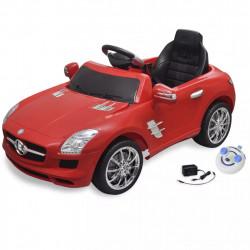 Електрическа кола Mercedes SLS AMG, червена, 6V с дистанционно - Детски превозни средства