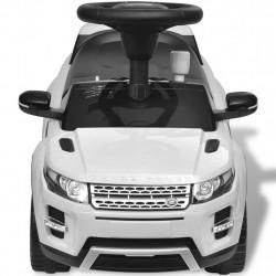Електрическа кола Land Rover 348, бяла, с мелодии - Детски превозни средства