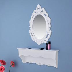 Sonata Комплект за стена за ключове и бижута с огледало и куки - Тоалетки