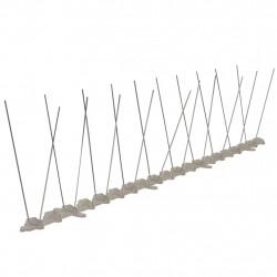 2-редова стоманена преграда с шипове срещу птици, комплект от 6 - Домашни любимци