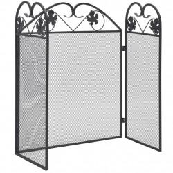 3-панелен черен екран за камина - Камини, Комини и Печки на дърва