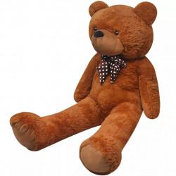 Мека плюшена играчка мече, XXL, кафяво, 175 см - Детски играчки