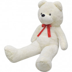 Мека плюшена играчка мече, XXL, бяло, 175 см - Детски играчки