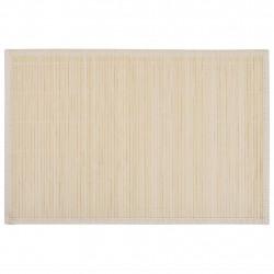 Бамбукови подложки за хранене 30 x 45 см, натурални - 6 бр - Кухненски аксесоари и прибори
