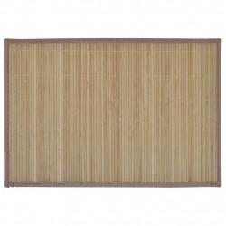 Бамбукови подложки за хранене 30 x 45 см, кафяви - 6 бр - Кухненски аксесоари и прибори
