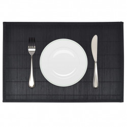 Бамбукови подложки за хранене 30 x 45 см, черни - 6 бр - Кухненски аксесоари и прибори