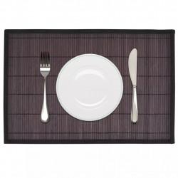 Бамбукови подложки за хранене 30 x 45 см, тъмно кафяви - 6 бр - Кухненски аксесоари и прибори