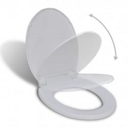 Sonata Тоалетна седалка с плавно затваряне, бяла, овална - Продукти за баня и WC
