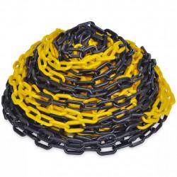 30 m Пластмасова предупредителна верига, жълто и черно - Аксесоари