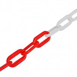 Пластмасова сигнална верига, червено на бяло, 30 м - Аксесоари