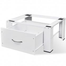 Sonata Стойка за перална машина с чекмедже, бяла - Шкафове за Баня