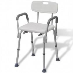 Sonata бял алуминиев душ стол - Обзавеждане на Бизнес обекти