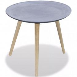 Sonata Странична маса, кръгла, бетонно сив цвят - Тоалетки