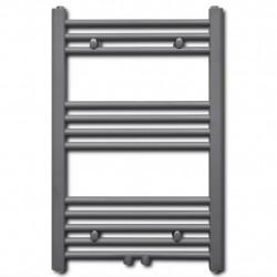 Лира за баня, централно отопление, прав дизайн, сива, 500 x 764 мм - Радиатори и Лири