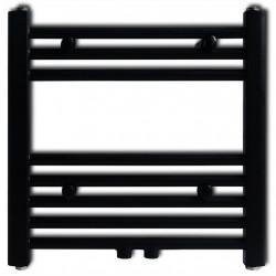 Лира за баня, централно отопление, прав дизайн, черна, 480 x 480 мм - Радиатори и Лири