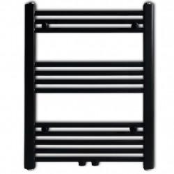 Лира за баня, централно отопление, прав дизайн, черна, 600 x 764 мм - Радиатори и Лири