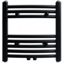 Лира за баня, централно отопление, извит дизайн, черна, 480 x 480 мм - Радиатори и Лири