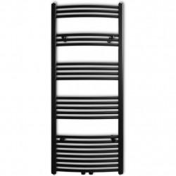 Sonata Лира за баня централно отопление извит дизайн черна 600x1424 мм - Радиатори и Лири