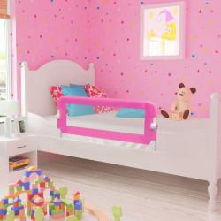Ограничител за бебешко легло, 102 x 42 см, розов - Мебели за детска стая