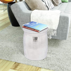 Sonata Кована алуминиева табуретка/странична маса, сребриста - Тоалетки