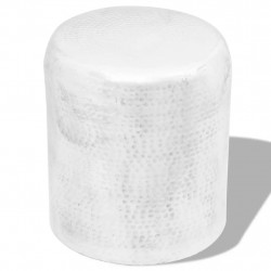 Sonata Кована алуминиева табуретка / странична маса, сребриста - Тоалетки