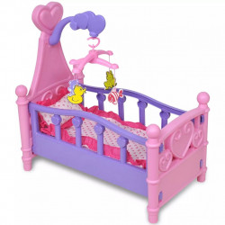 Креватче за кукли, розово и лилаво - Спорт и Свободно време